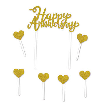 Picture of HAPPY ANNIVERSARY CAKE TOPPER
