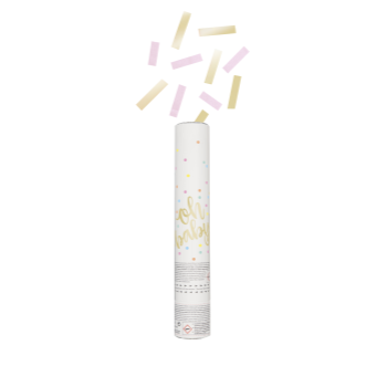 Picture of OH BABY CONFETTI CANNON - PINK & GOLD
