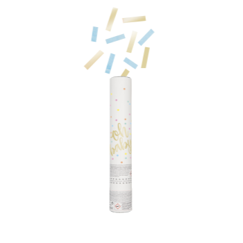 Picture of OH BABY CONFETTI CANNON - BLUE & GOLD