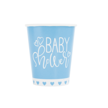 Picture of BLUE HEARTS BABY SHOWER  9OZ CUPS