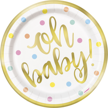 """Picture of OH BABY 7"""" PLATE"""