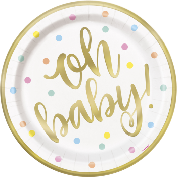 "Image de OH BABY 9"" PLATE"