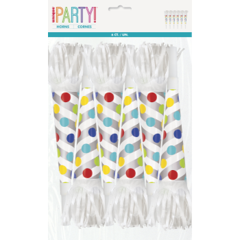Picture of DECOR - FOIL DOTS HORN WITH FRINGE