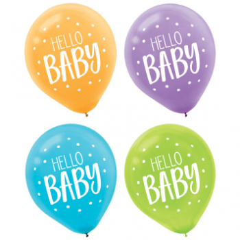 "Image de FISHER PRICE HELLO BABY 12"" LATEX BALLOONS"