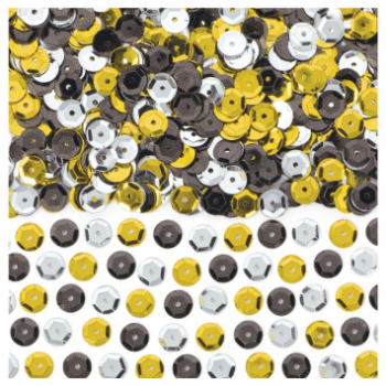 Picture of SEQUINED CONFETTI - BLACK/SILVER/GOLD