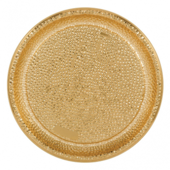 "Picture of SERVING WARE - HAMMERED ROUND 16"" TRAY - GOLD"