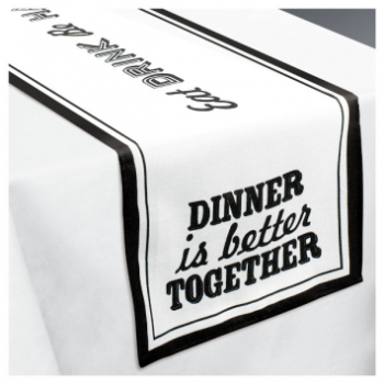 Image de FABRIC TABLE RUNNER - EAT AND ENJOY