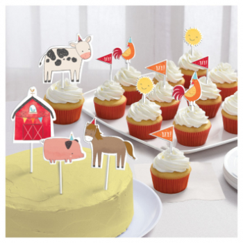 Image de BARNYARD BIRTHDAY - CAKE TOPPERS