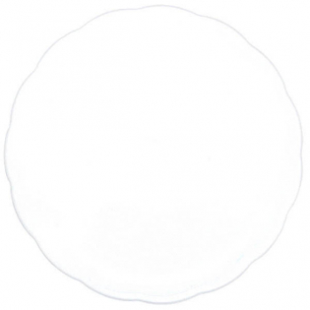 "Picture of 12"" WHITE ROUND TRAY"