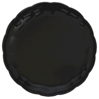 "Picture of 12"" BLACK ROUND PLATTER"