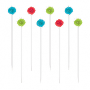Picture of FIESTA POM POM DRINK STIRRERS - 12CT