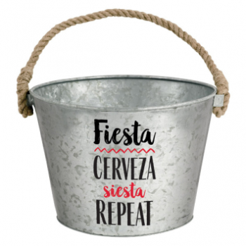 Picture of FIESTA METAL BUCKET WITH ROPE HANDLE