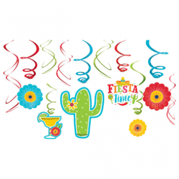 Picture of FIESTA SWIRL DECORATION - 12CT