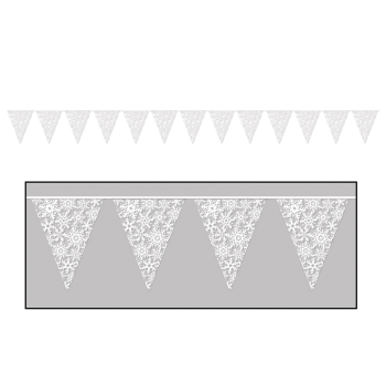 Picture of DECOR - SNOWFLAKE PENNANT BANNER