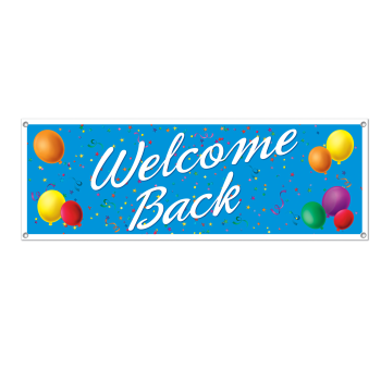 Picture of WELCOME BACK SIGN BANNER