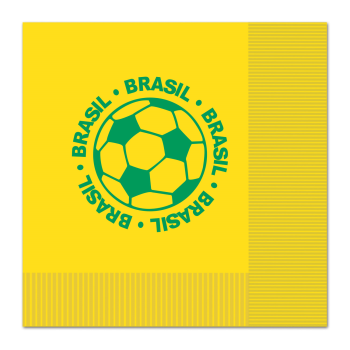 Picture of SOCCER - LUNCHEON NAPKINS - BRASIL