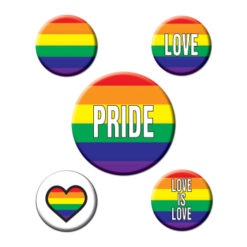Picture of PRIDE RAINBOW PARTY BUTTONS