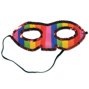 Picture of SEQUINED RAINBOW HALF MASK