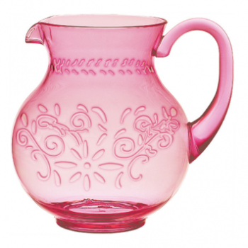 Picture of PINK EMBOSSED PLASTIC PITCHER - BOHO VIBE