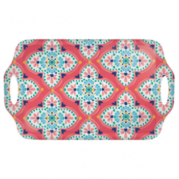 Picture of BOHO VIBES MELAMINE HANDLE TRAY - MEDIUM