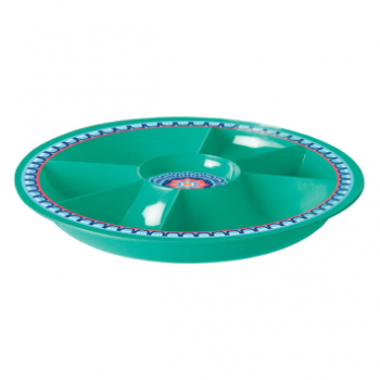 Image de TABLEWARE - BOHO VIBES CHIP AND DIP TRAY - TURQUOISE