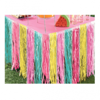 Picture of GRASS TABLE SKIRT - PASTEL COLORS