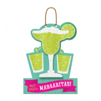 Picture of BUT FIRST MARGARITAS HANGING SIGN