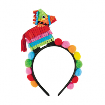 Picture of POMPOM HEADBAND WITH SMALL PINATA