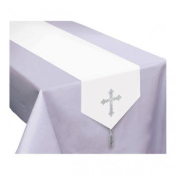 Picture of TABLEWARE - COMMUNION TABLE RUNNER WITH CROSS