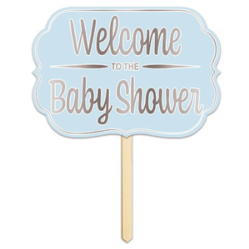 Image de BLUE WELCOME TO THE BABY SHOWER YARD SIGN