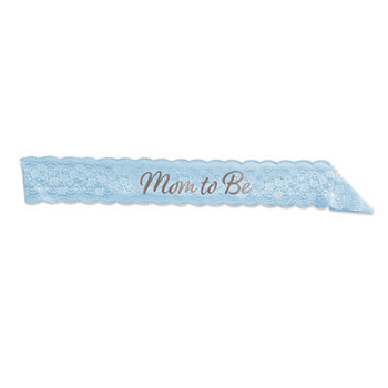 Picture of MOM TO BE LACE SASH - BLUE
