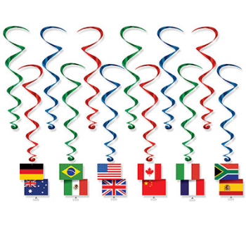 Picture of INTERNATIONAL FLAGS WHIRLS