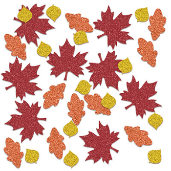 Picture of FALL LEAF DELUXE SPARKLE CONFETTI