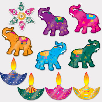 Picture of DIWALI FOIL CUTOUTS