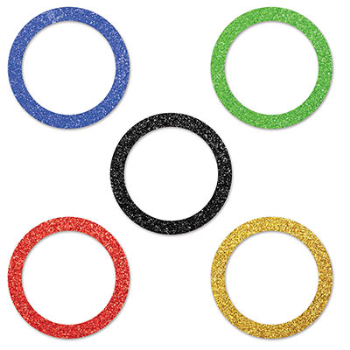 Picture of SPORTS - OLYMPIC RINGS CONFETTI