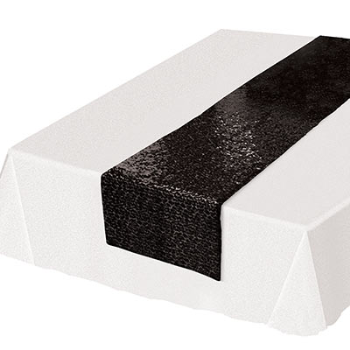 Picture of BLACK SEQUIN TABLE RUNNER