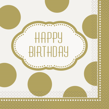 Picture of TABLEWARE - GOLDEN BIRTHDAY LUNCHEON NAPKINS