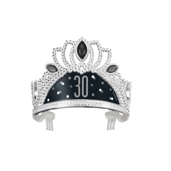 Picture of 30th - BIRTHDAY BLITZ BLACK PLASTIC TIARA