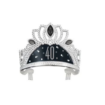 Picture of 40th - BIRTHDAY BLITZ BLACK PLASTIC TIARA