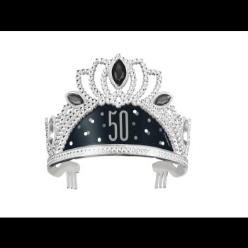 Image de 50th - BIRTHDAY BLITZ BLACK PLASTIC TIARA