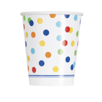Picture of TABLEWARE - RAINBOW POLKA DOT - 9oz CUP