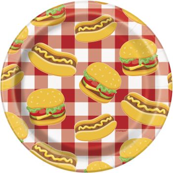 "Picture of BURGER BBQ 7"" PLATES"