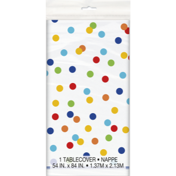 Picture of TABLEWARE - RAINBOW POLKA DOT TABLE COVER