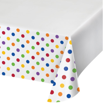 Picture of TABLEWARE - DOTS AND STRIPES MULTI COLOR - TABLE COVER