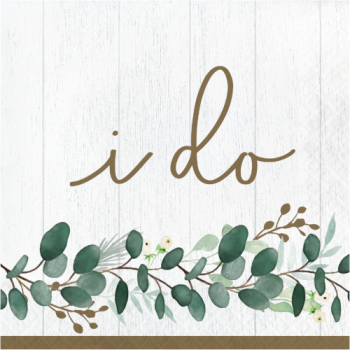 Picture of EUCALYPTUS GREEN - LUNCHEON NAPKINS - I DO