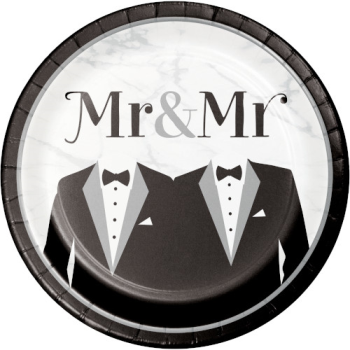 """Picture of MR & MR WEDDING - 9"""" PLATES"""