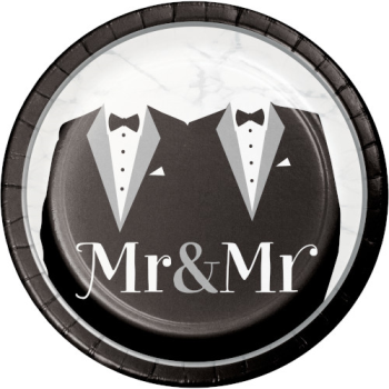 """Picture of MR & MR WEDDING - 7"""" PLATES"""