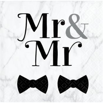 Picture of MR & MR WEDDING - BEVERAGE NAPKINS