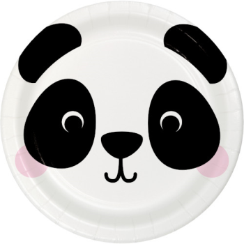 """Picture of ANIMAL FACES - PANDA - 9"""" PLATES"""