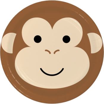"""Picture of ANIMAL FACES - MONKEY - 9"""" PLATES"""